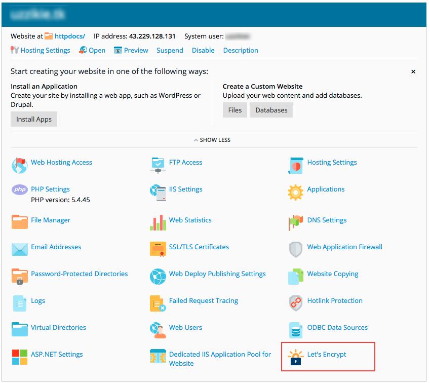 Applying for free SSL cert using Let\'s Encrypt - Knowledgebase ...