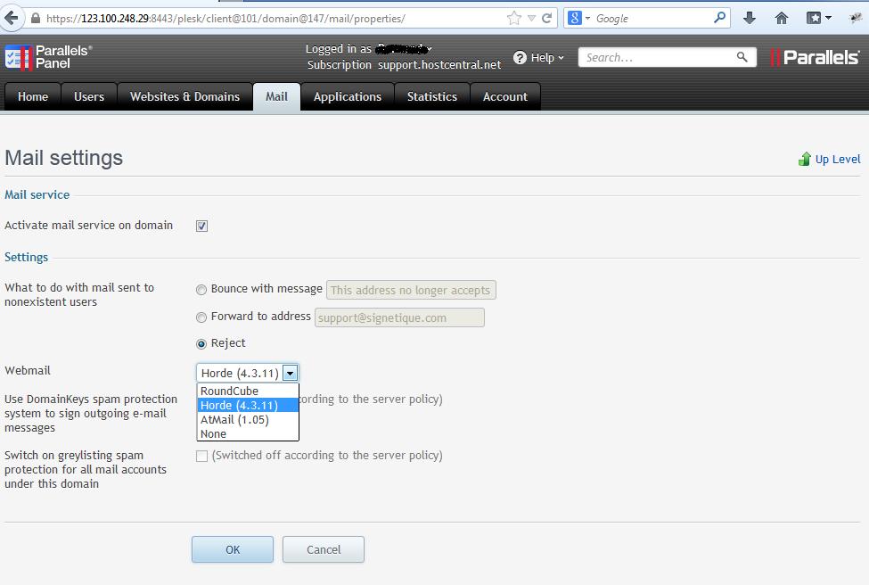 Changing webmail program - Knowledgebase - Signetique IT Pte Ltd